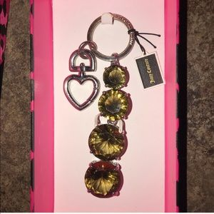 Juicy couture key chain green